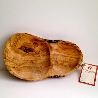 2 Part Olive Wood dish