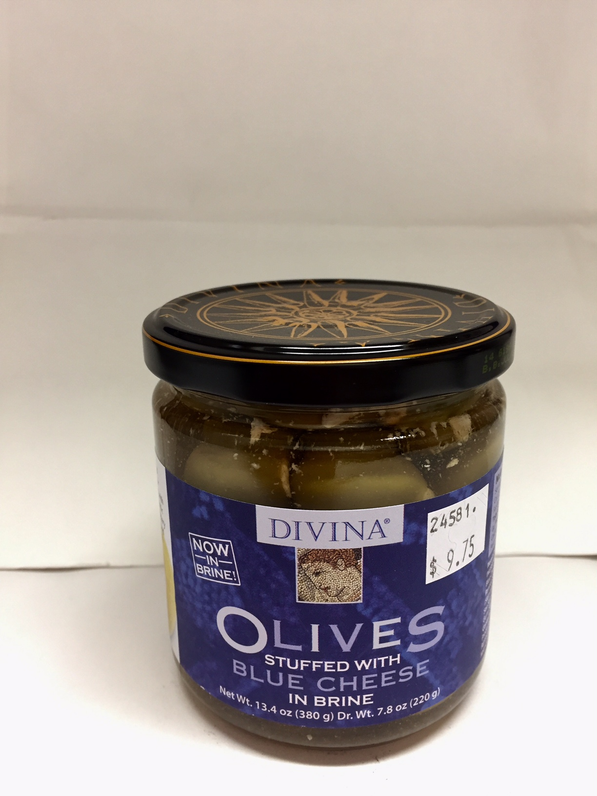 Olives Stuffed with Blue Cheese in Brine