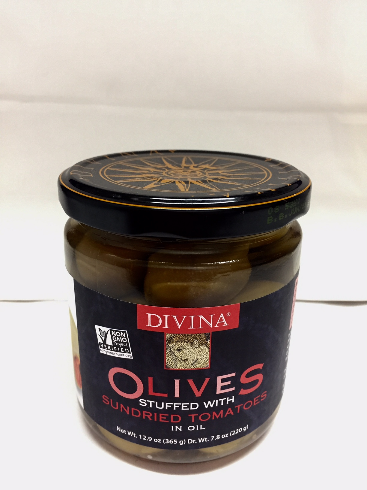 Olives Stuffed with Sundried Tomatoes in Oil