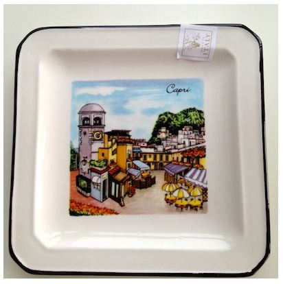 Hand Painted CAPRI or PORTOFINO Ceramic Plate